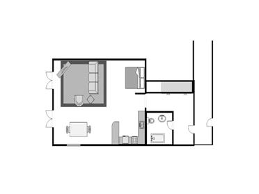 Albany Studio Floor Plan