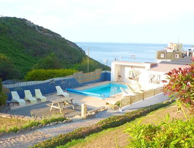 The pool area is shared with the other self catering and guests of the hotel