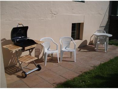 The barbecue was renewed in 2011 and makes alfresco eating a joy!
