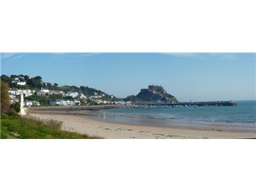 The view from Gorey common across the beach to the harbour is beautiful