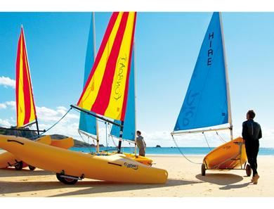 In peak season there is a variety of activities which can be purchased for adults and children including boat hire.