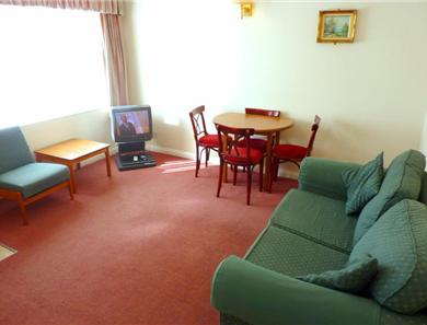 Lounge example in a 2 adult 1 bedroom apartment