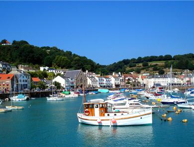 St Aubins harbour and village is just a stones throw from the apartments
