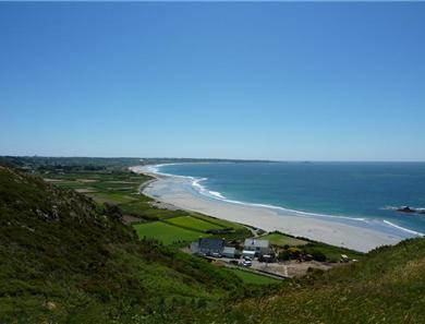 The view over St Ouen's Bay.
