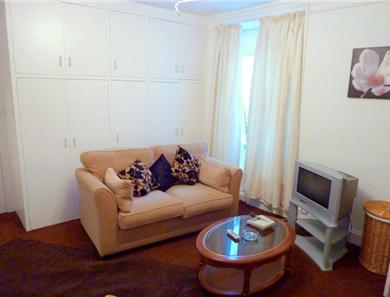 The lounge area in the ground floor 2 bedroom apartment
