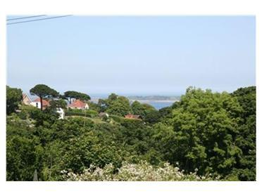 This is the view from the property down the valley and across to herm