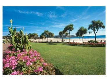 A stones throw from the apartments are the gardens on the St Brelade sea front.
