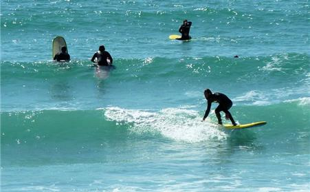 St Ouens Bay offers surf schools and great surfing opportunities as well as family beach areas